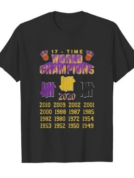 Undefeated Lakers 17 Time Champion shirt