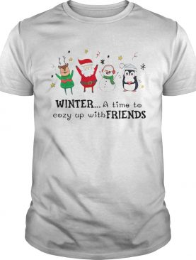Winter A Time To Cozy Up With Friends Christmas shirt