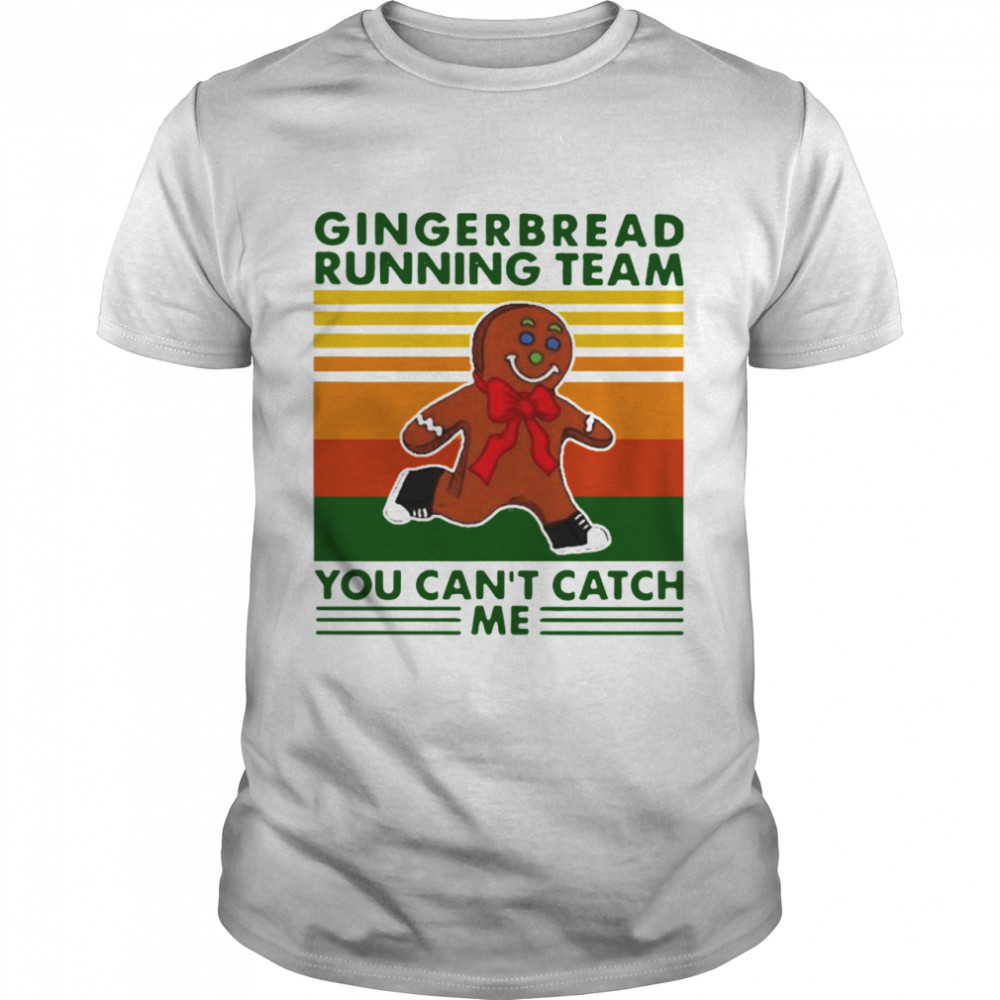 Gingerbread Running Team You Can'T Catch Me Vintage  Classic Men's T-shirt