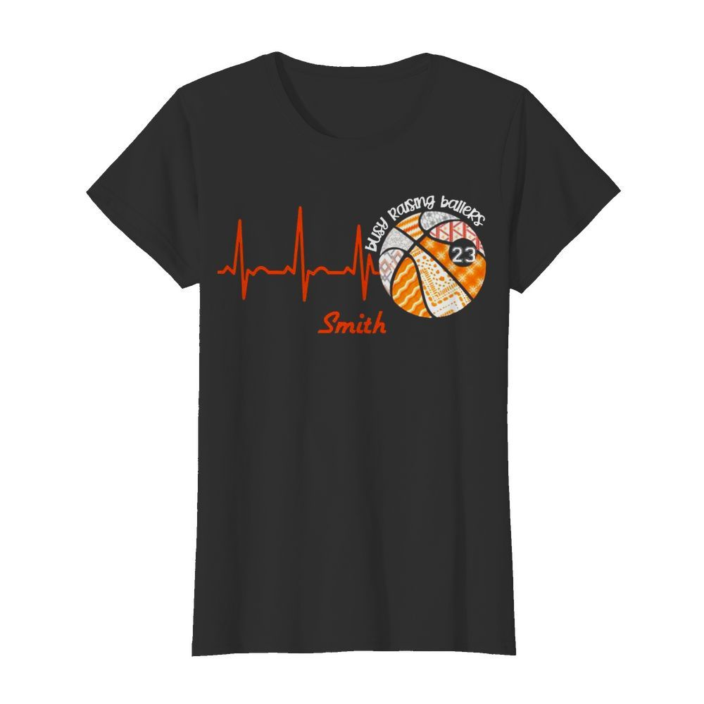 Heartbeat Volleyball Busy Raising Ballers Smith  Classic Women's T-shirt