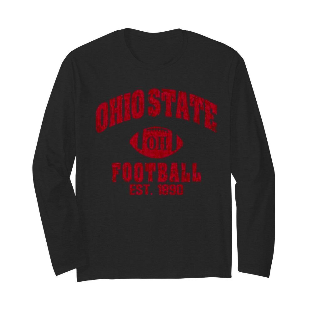 State Of Ohio Est 1890 Vintage Football  Long Sleeved T-shirt
