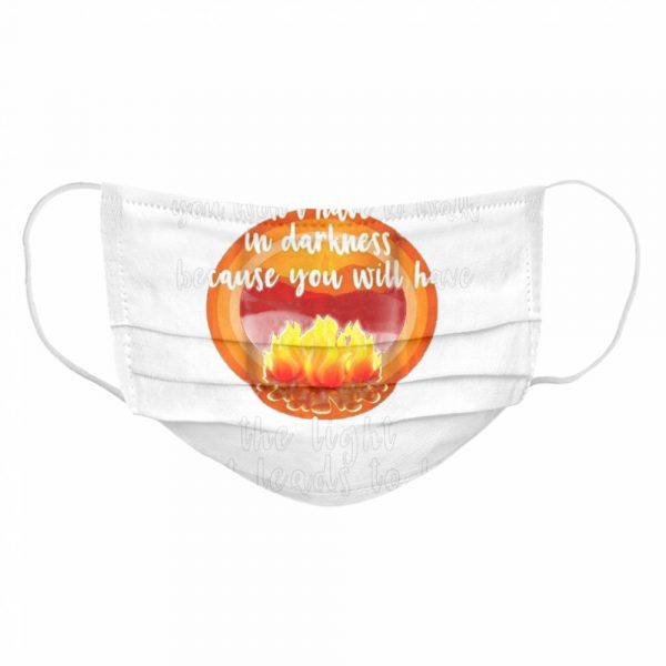 The Light That Leads To Life John 8-12 Christian  Cloth Face Mask