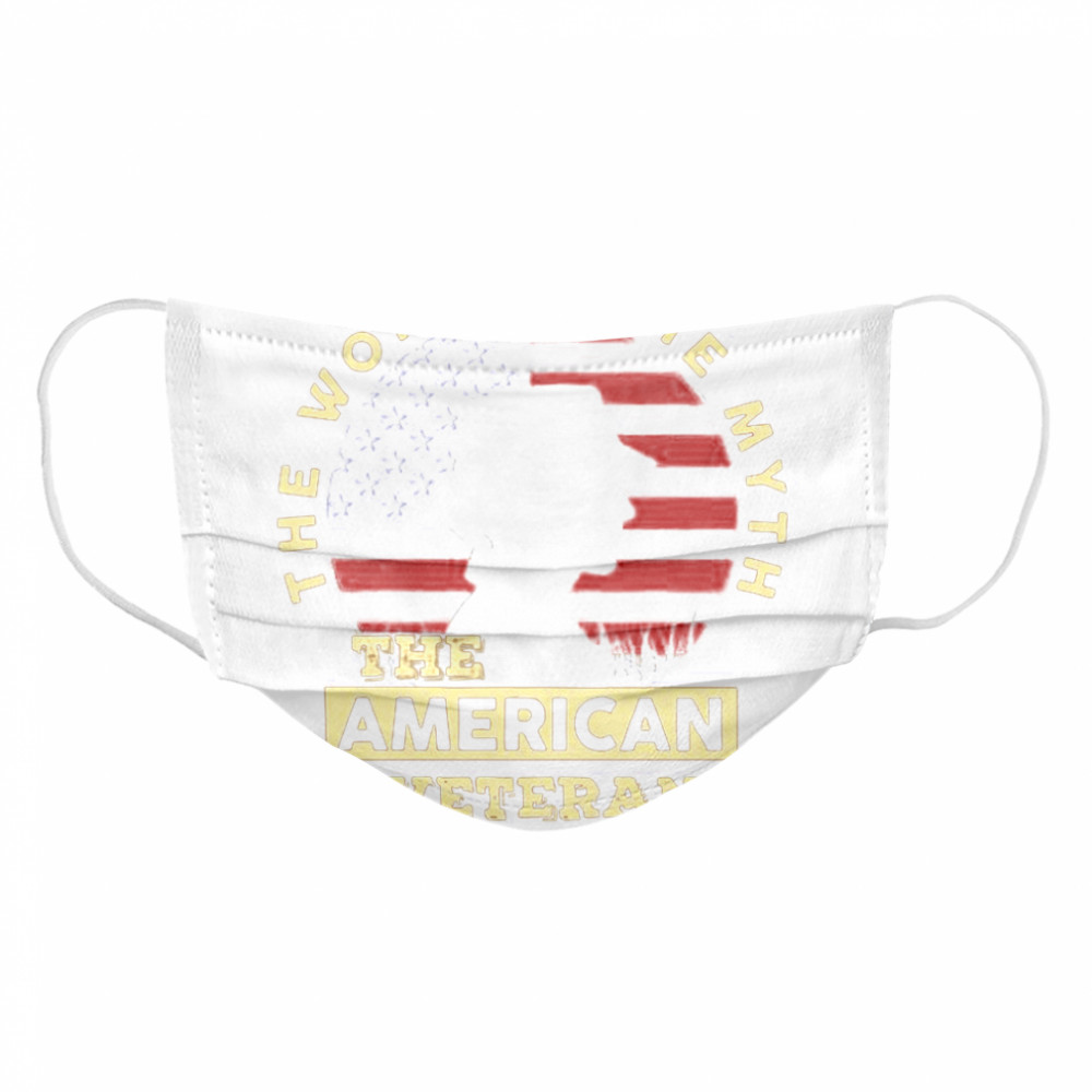 The Woman The Myth The American Veteran American Flag  Cloth Face Mask