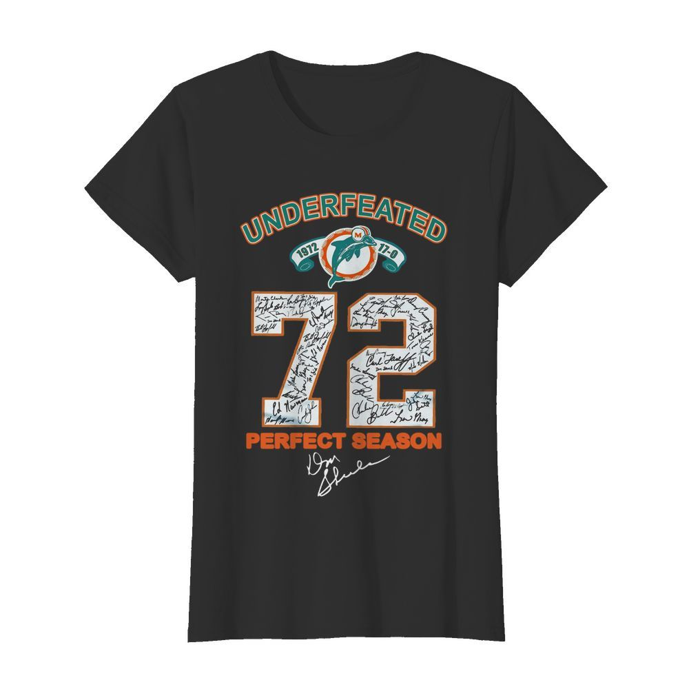Undefeated 72 Perfect Season  Classic Women's T-shirt