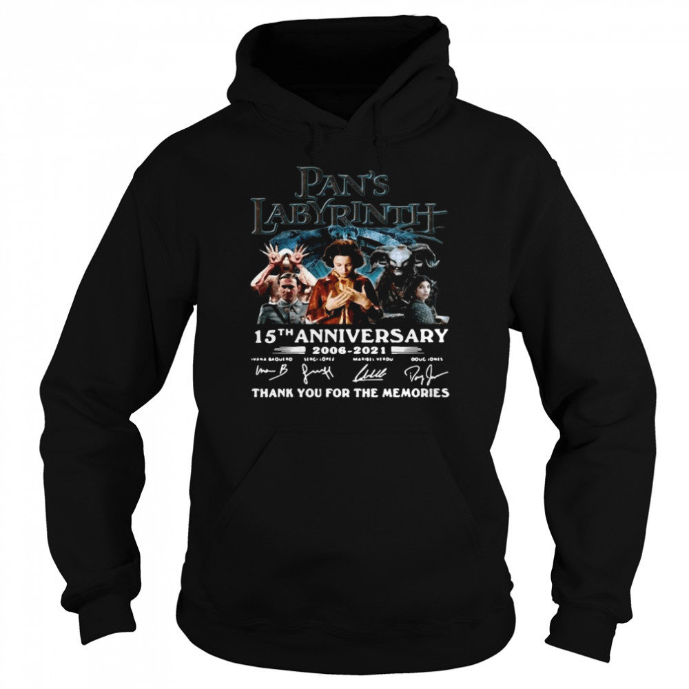 Great Labyrinth 15th Anniversary Thank You For The Memories Signatures  Unisex Hoodie