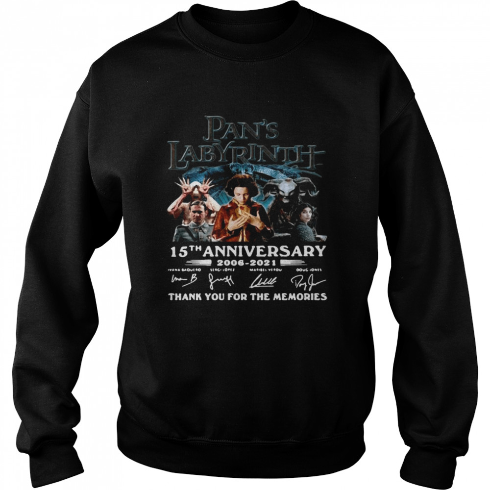 Great Labyrinth 15th Anniversary Thank You For The Memories Signatures  Unisex Sweatshirt
