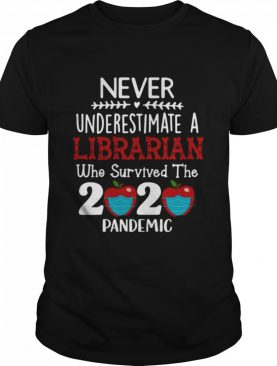 Never Underestimate A Librarian Who Survived 2020 Pandemic shirt