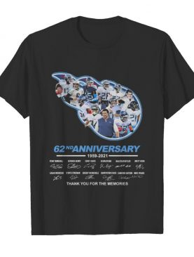 Titans 62nd anniversary thank you for the memories signatures shirt